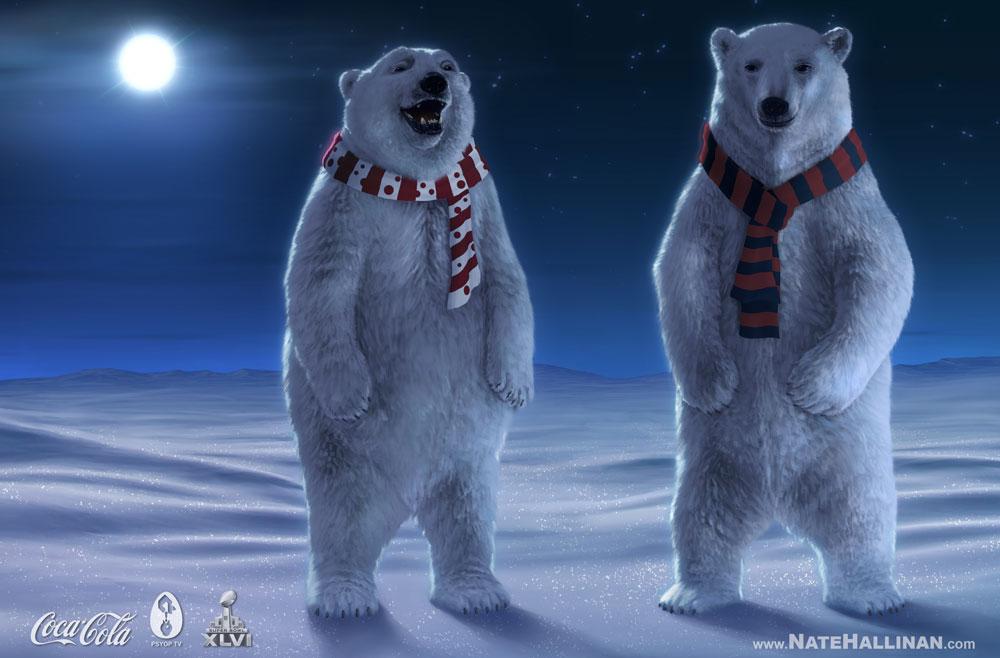 Drawn polar  bear coca cola #3
