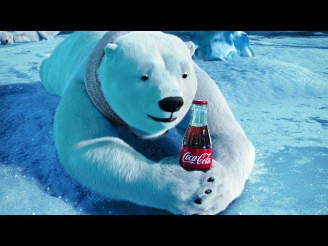 Drawn polar  bear coca cola #12