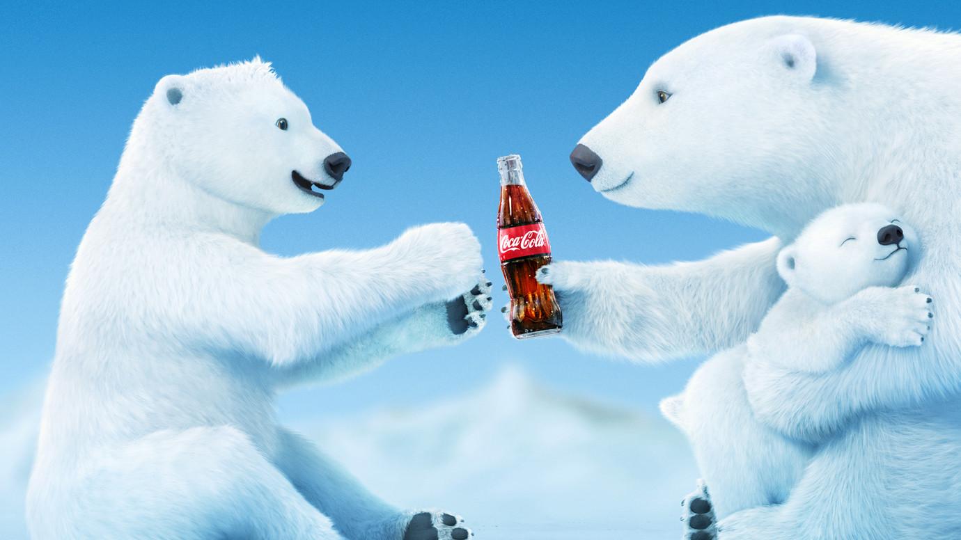 Drawn polar  bear coca cola #10