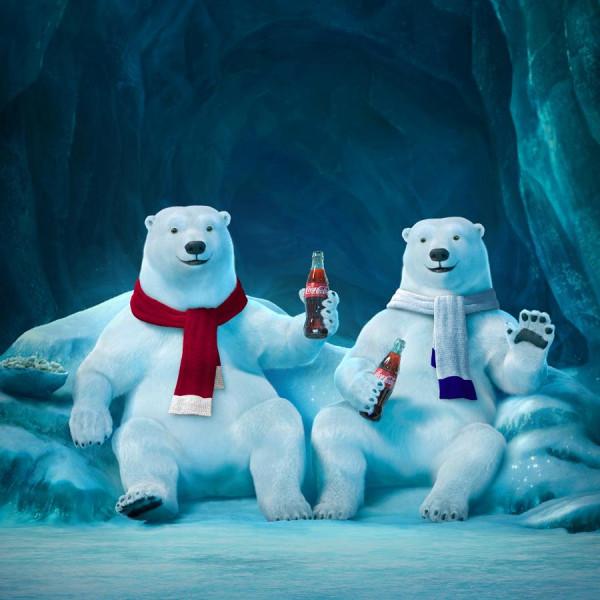 Drawn polar  bear coca cola #13