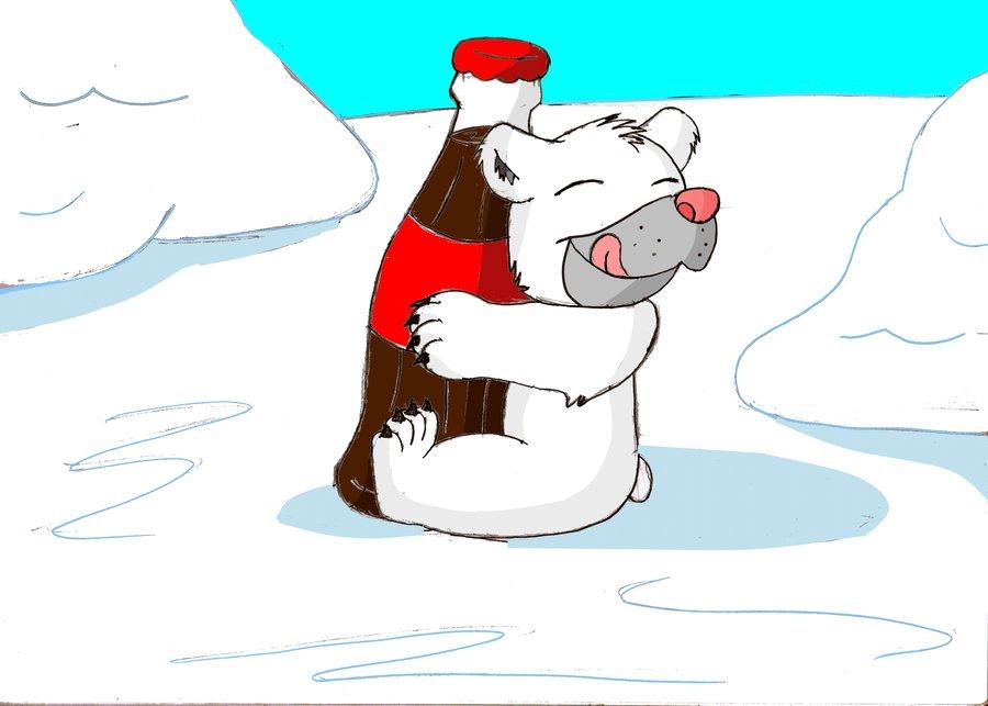 Drawn polar  bear coca cola #2