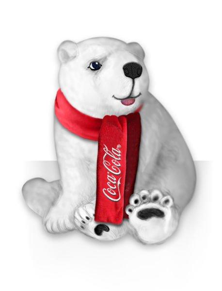 Drawn polar  bear coca cola #8