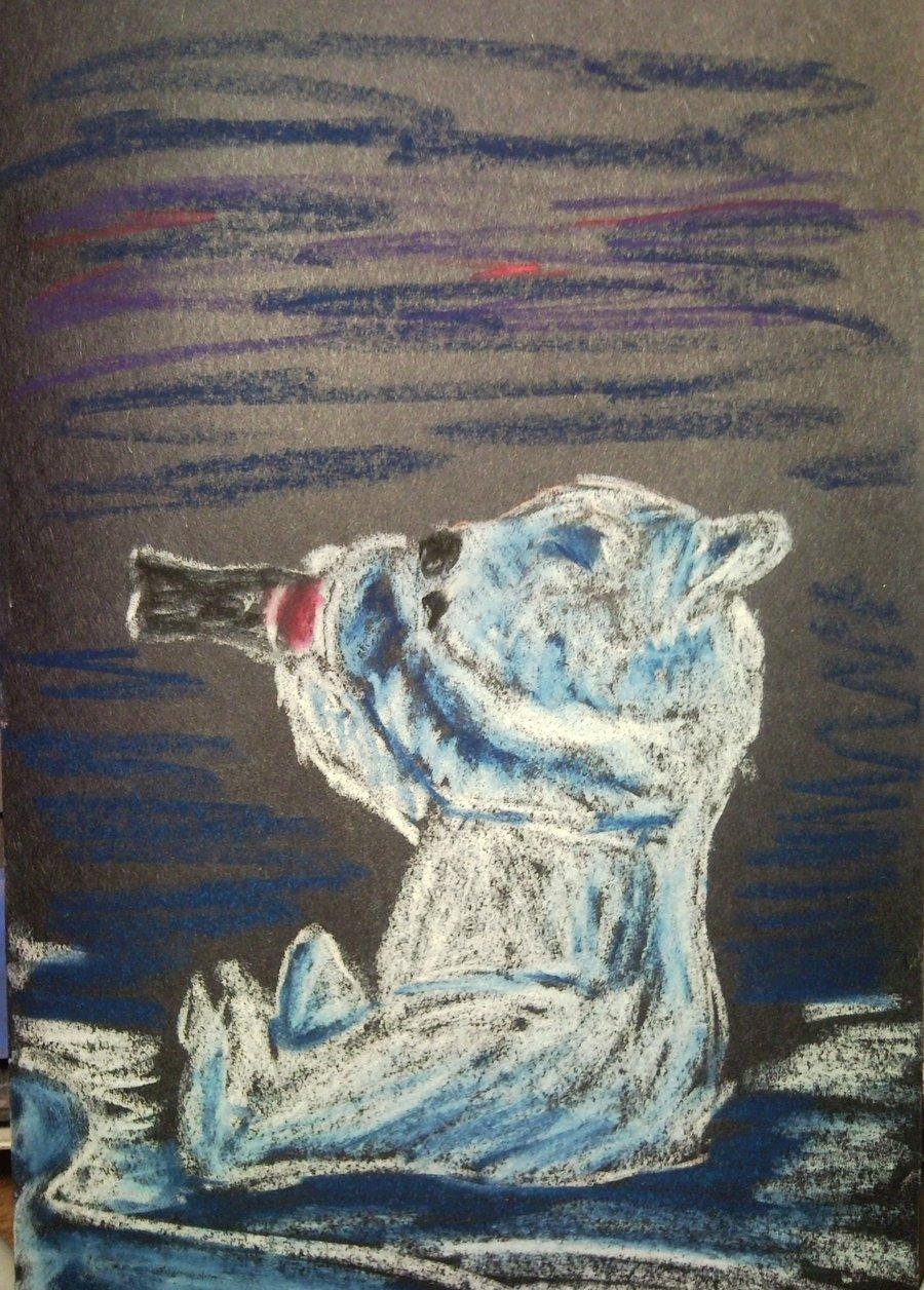 Drawn polar  bear coca cola #6