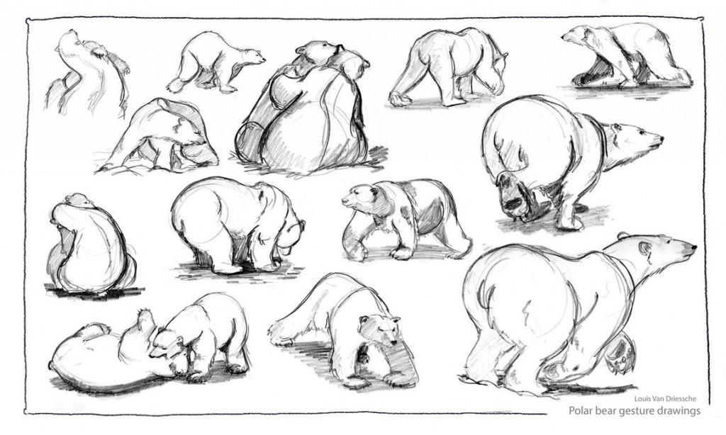 Drawn polar  bear comic #8