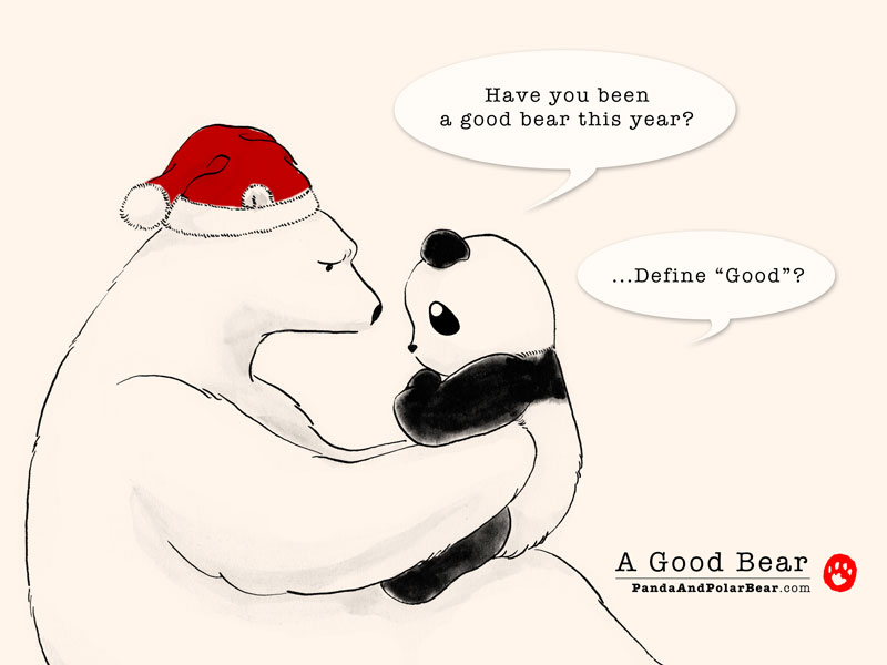 Drawn polar  bear comic #6