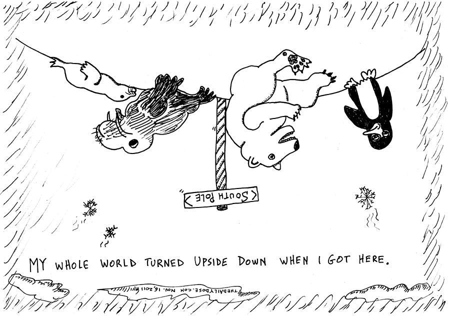 Drawn polar  bear comic #12