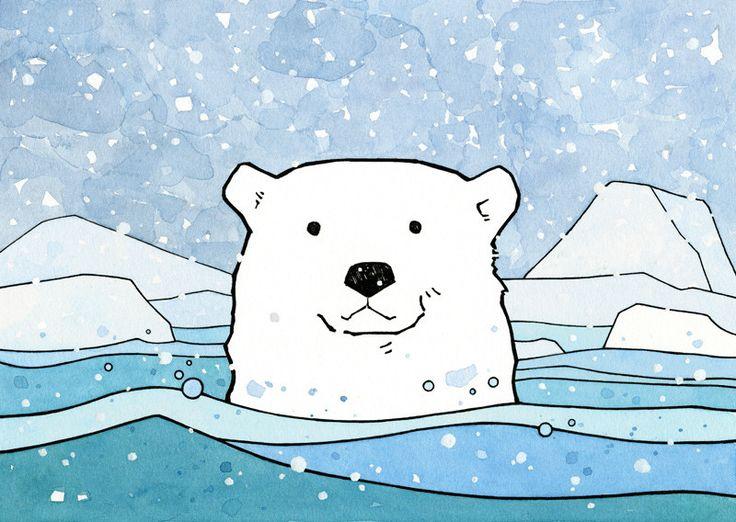 Drawn polar  bear comic #5