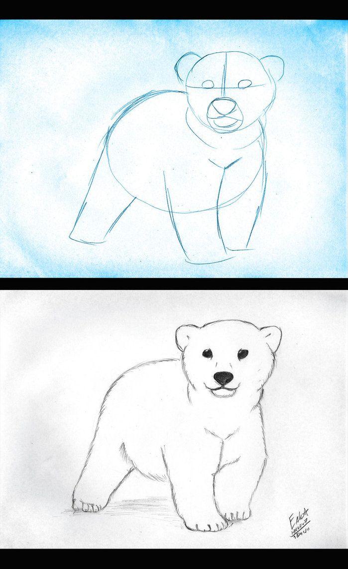 Drawn polar  bear comic #2
