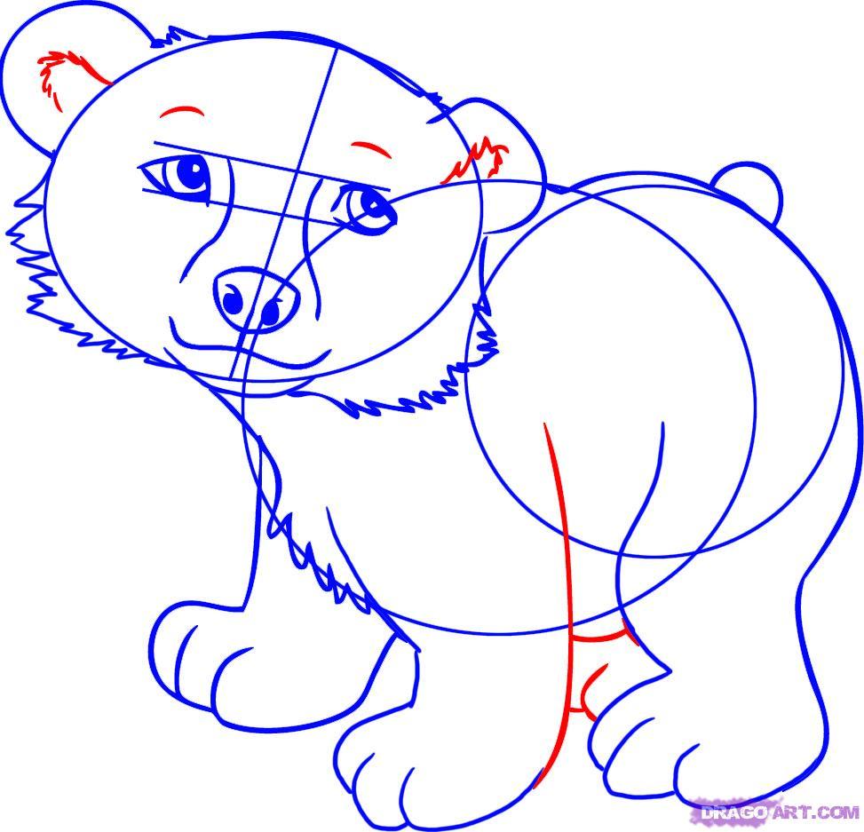 Drawn polar  bear comic #1