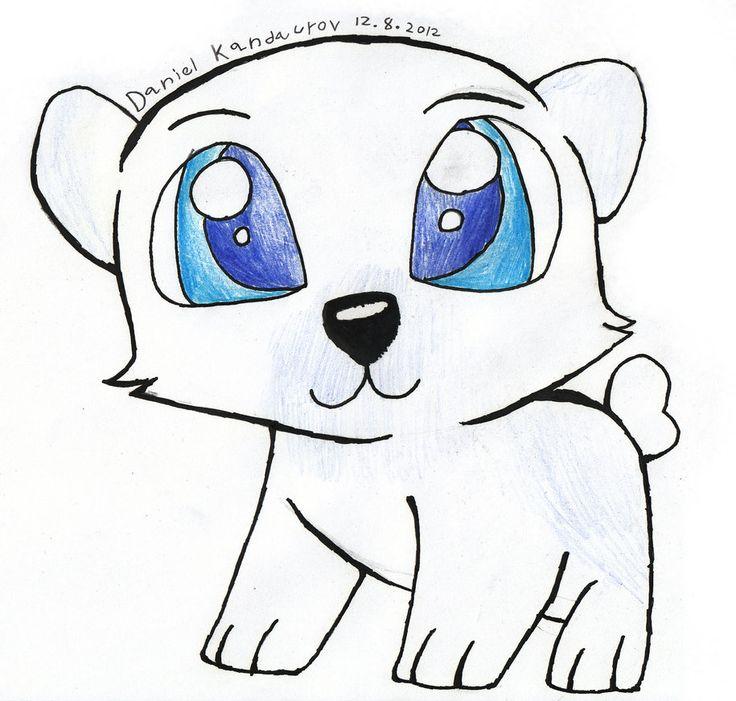 Drawn polar  bear comic #3