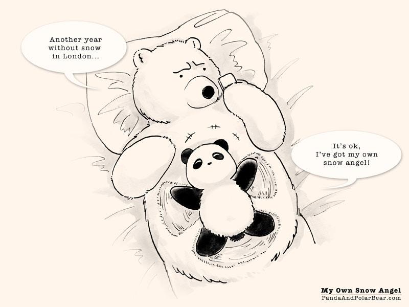 Drawn polar  bear comic #10