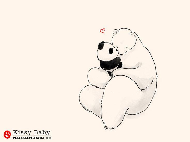 Drawn polar  bear comic #7
