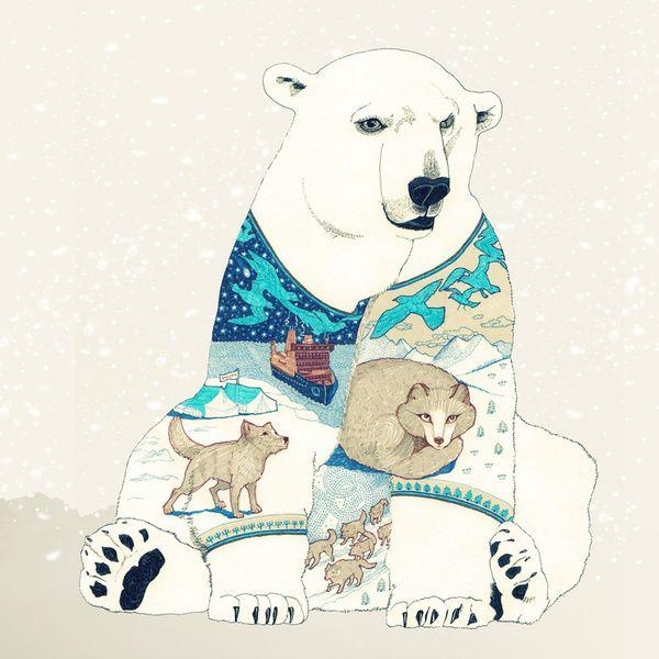 Drawn polar  bear comic #13