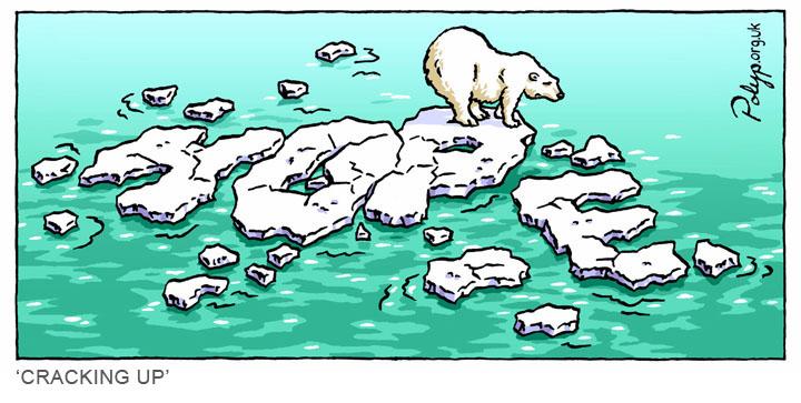Drawn polar  bear comic #11