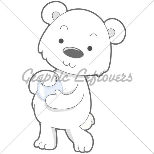 Drawn polar  bear cute cartoon Clipping Images Bear With ·
