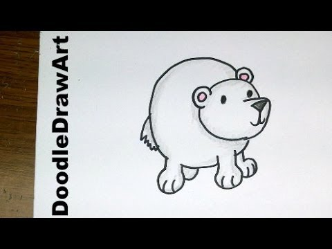 Drawn polar  bear cute cartoon By Drawing:  Polar Cartoon