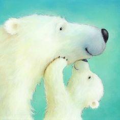 Drawn polar  bear cute winter #8