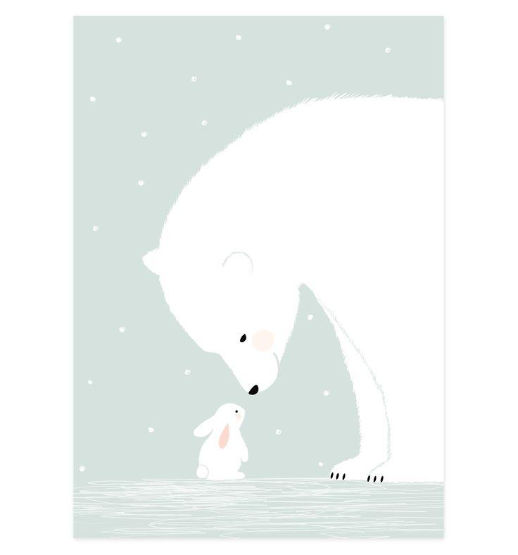 Drawn polar  bear cute winter #7