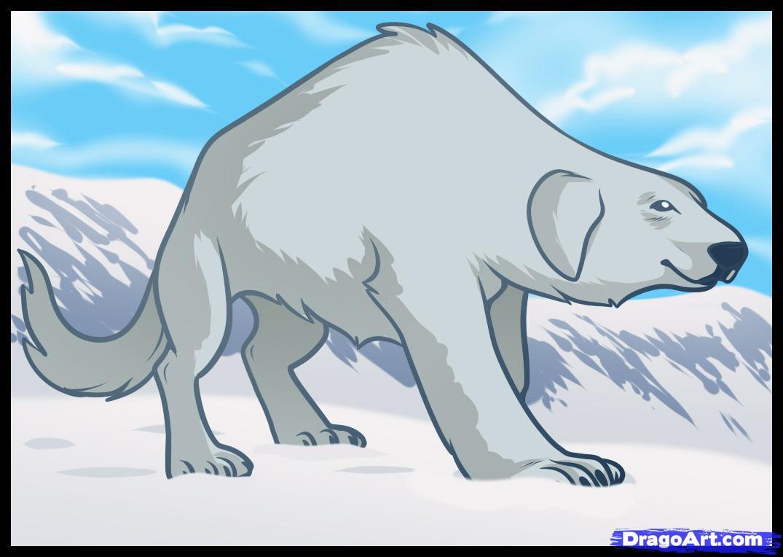 Drawn polar  bear dragoart Naga Naga Legend of Step