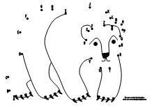 Drawn polar  bear educational Polar Draw activity www makinglearningfun