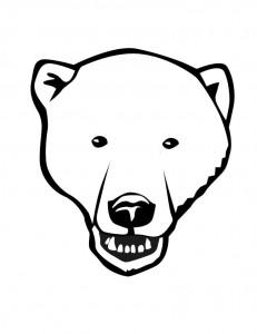 Drawn polar  bear face Coloring Polar Pages Coloring Face
