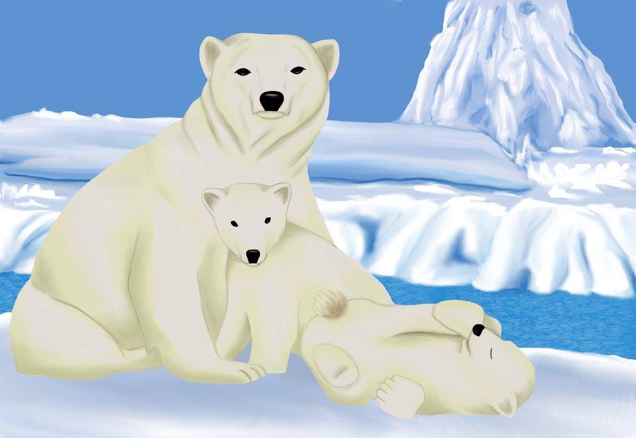 Drawn polar  bear family drawing ShyStriker Family ShyStriker by Polar