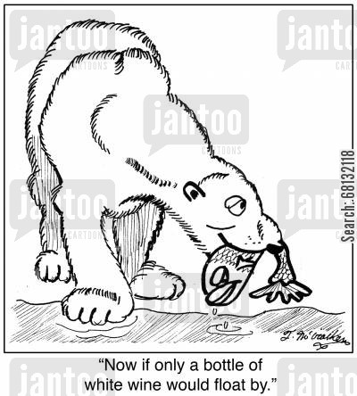 Drawn polar  bear fish cartoon Cartoon catching humor: cartoons from
