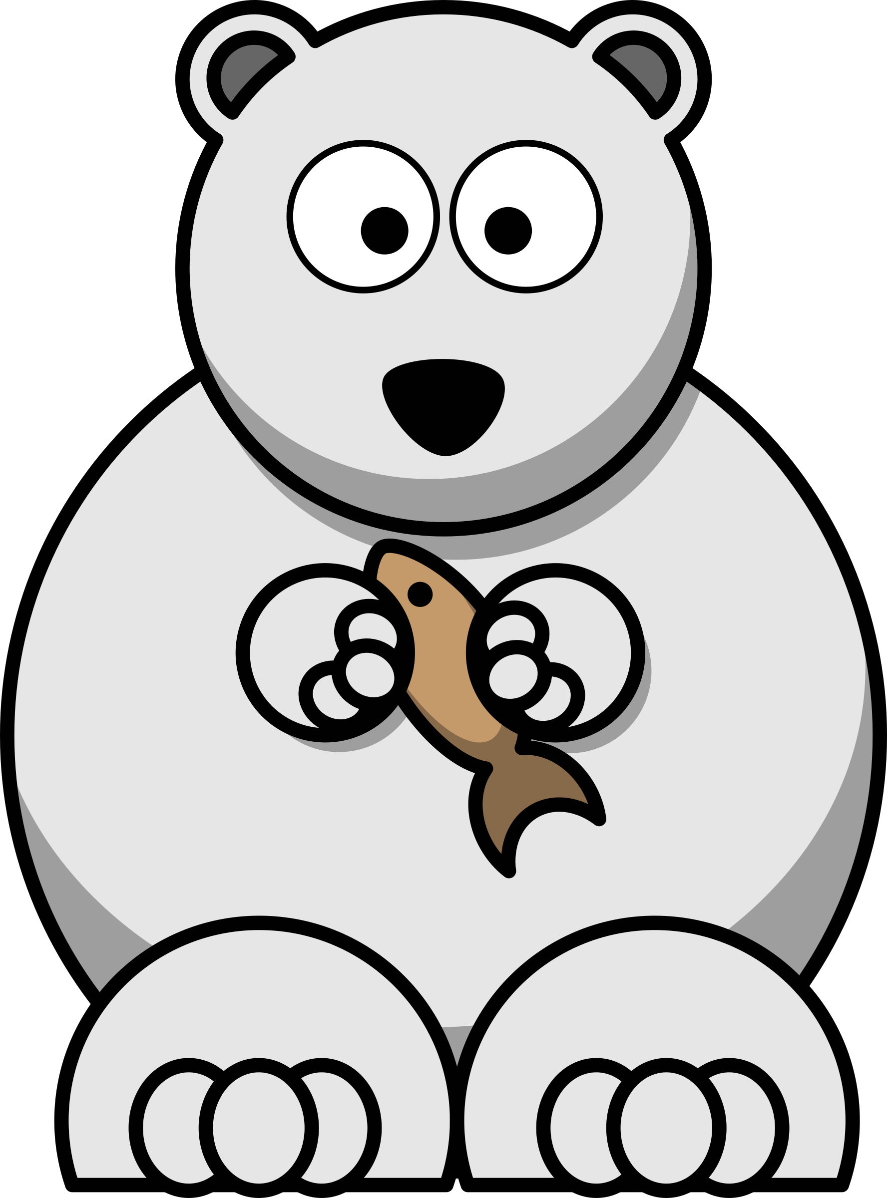Drawn polar  bear fish cartoon Bear Cartoon Clipart Polar Bear