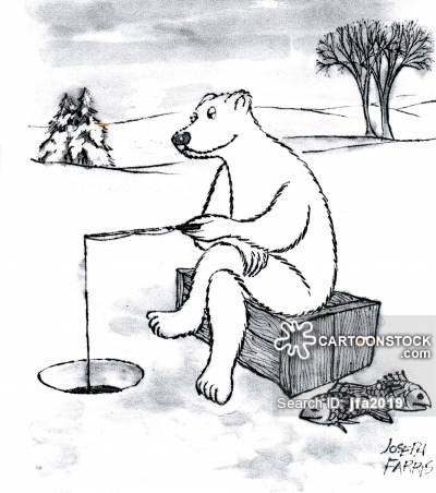 Drawn polar  bear fish cartoon Fishing Polar Ice from Bear