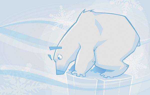 Drawn polar  bear giant Bear bear by on on