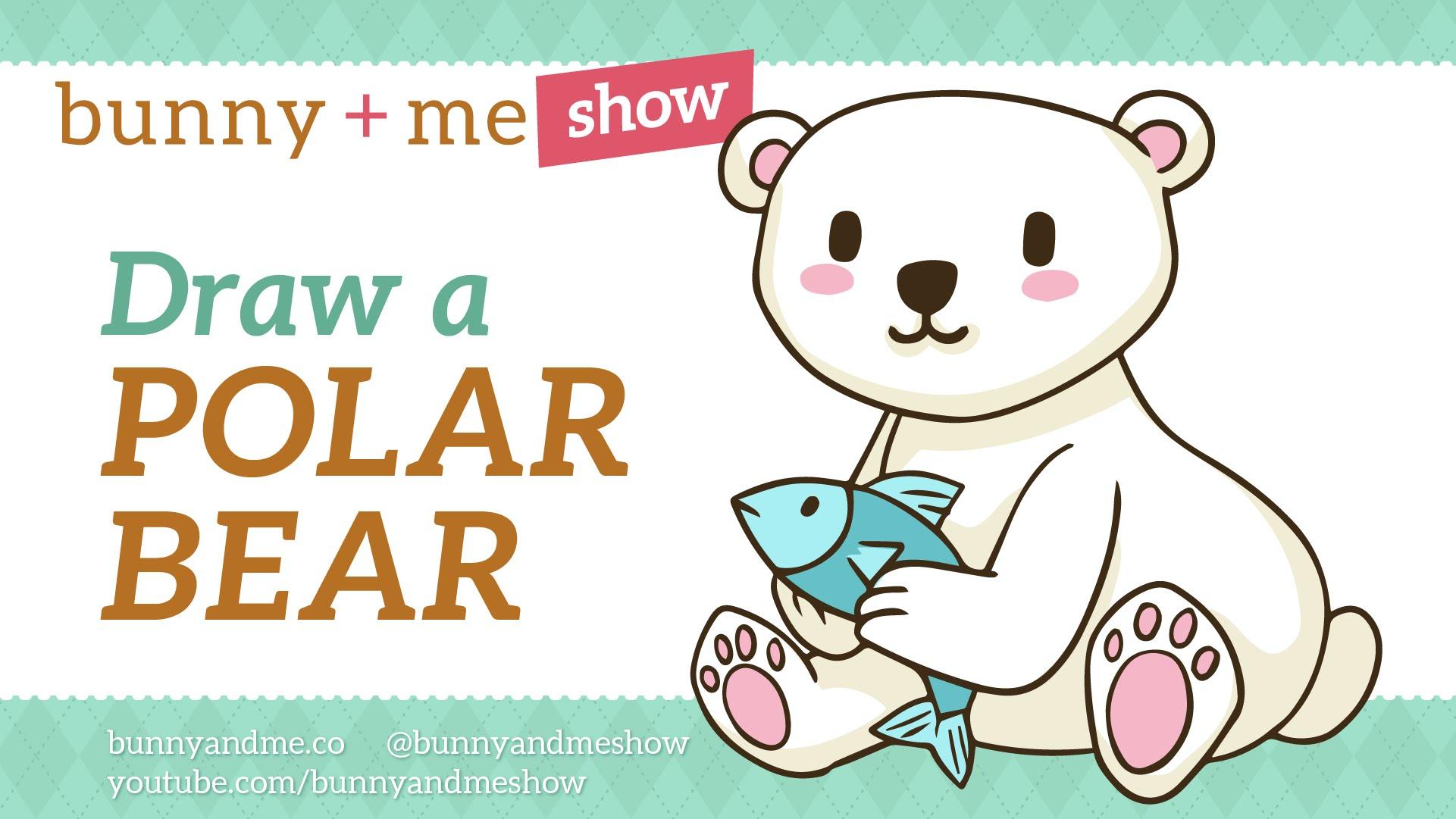 Drawn polar  bear happy bear Tutorial a Polar Easy draw