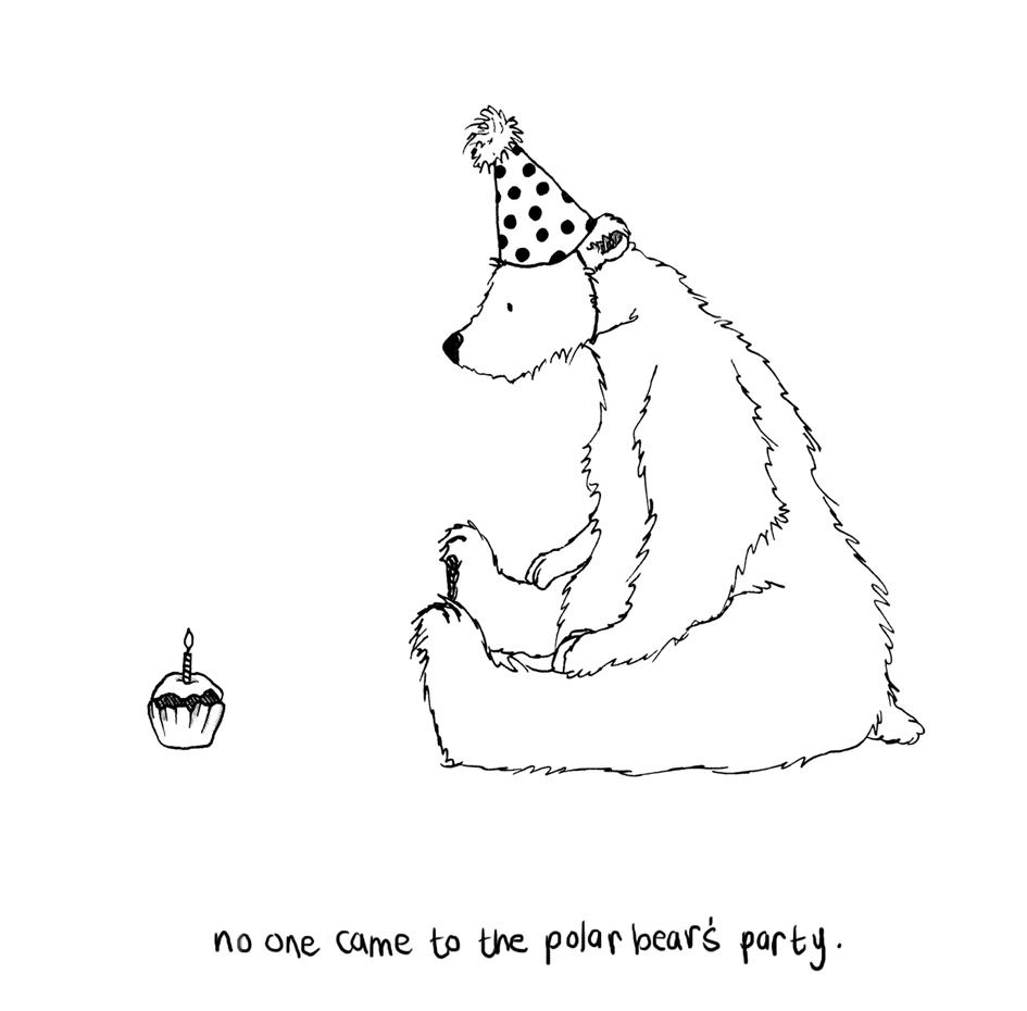 Drawn polar  bear happy bear Bear best Pinterest polar on