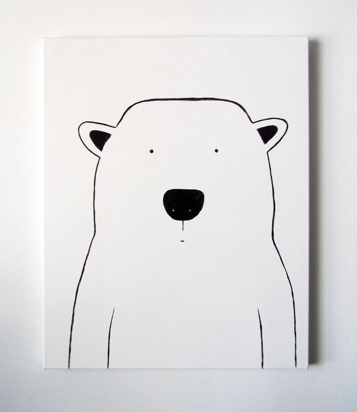 Drawn polar  bear happy bear Bear bear regular Pinterest Polar