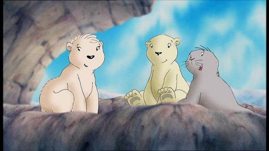 Drawn polar  bear little bear It's that shows Animation: claim