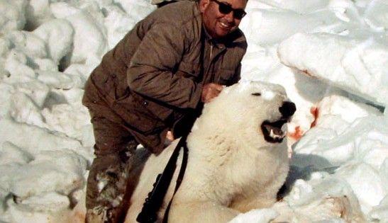 Drawn polar  bear man eater In Hunt : Chinese Paying
