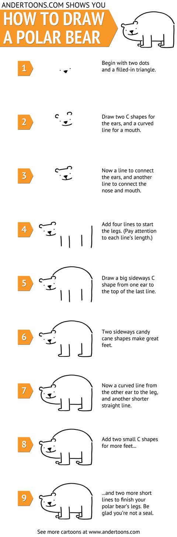 Drawn polar  bear line drawing Draw Pinterest Best this on