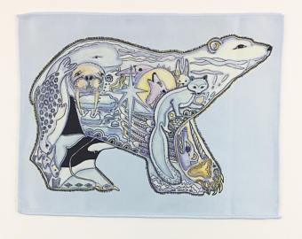 Drawn polar  bear native Sue Native Coccia Etsy Art