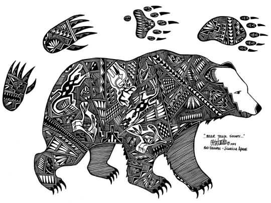 Drawn polar  bear native Bear Polar Designs Claws Tattoo