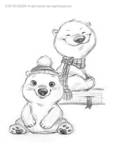 Drawn polar  bear one By Polar deviantART to