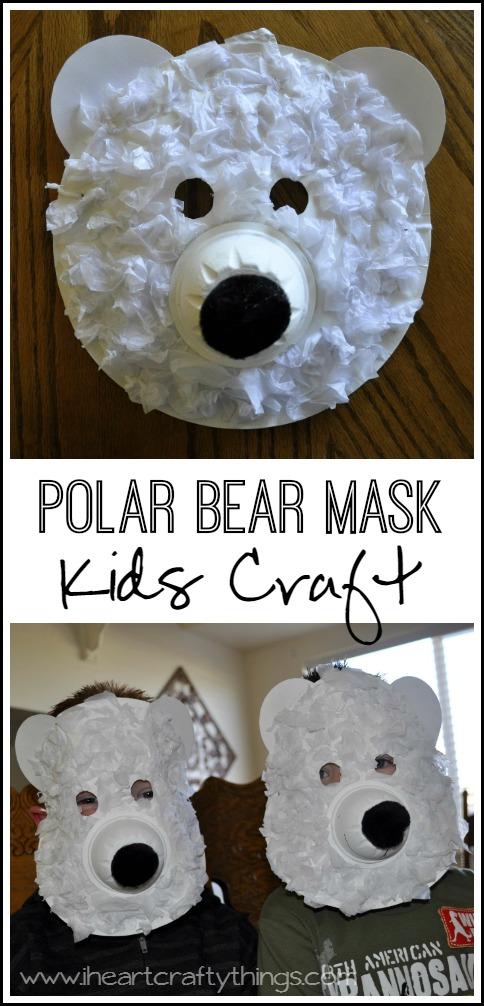 Drawn polar  bear paper Bear I Polar Masks Things