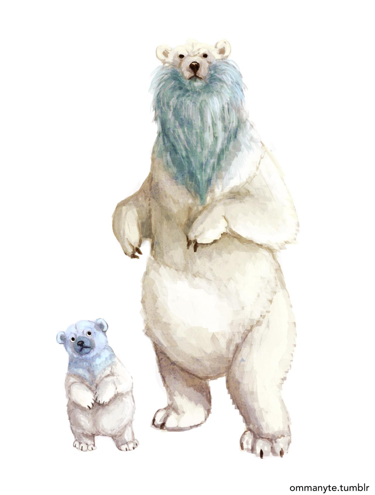 Drawn polar  bear pokemon Baby  Sea Deep