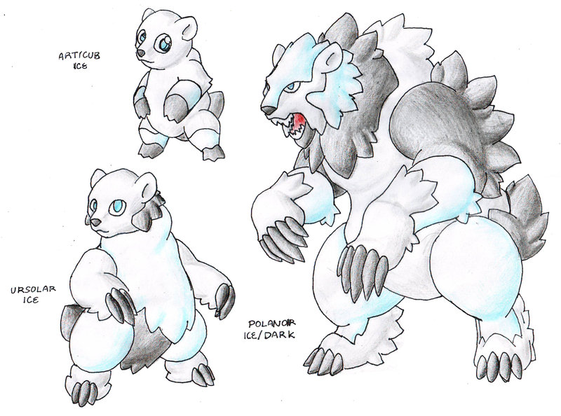 Drawn polar  bear pokemon Eternal DeviantArt Eternal Lord Ice