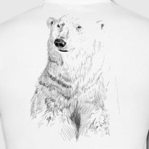 Drawn polar  bear polo #1