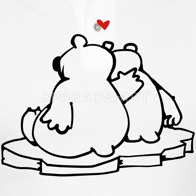 Drawn polar  bear polo #2