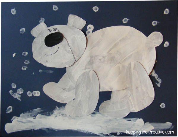 Drawn polar  bear polo #9