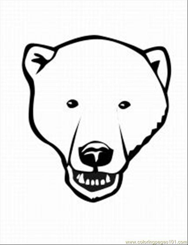 Drawn polar  bear printable Home Printable Med 5 Coloring