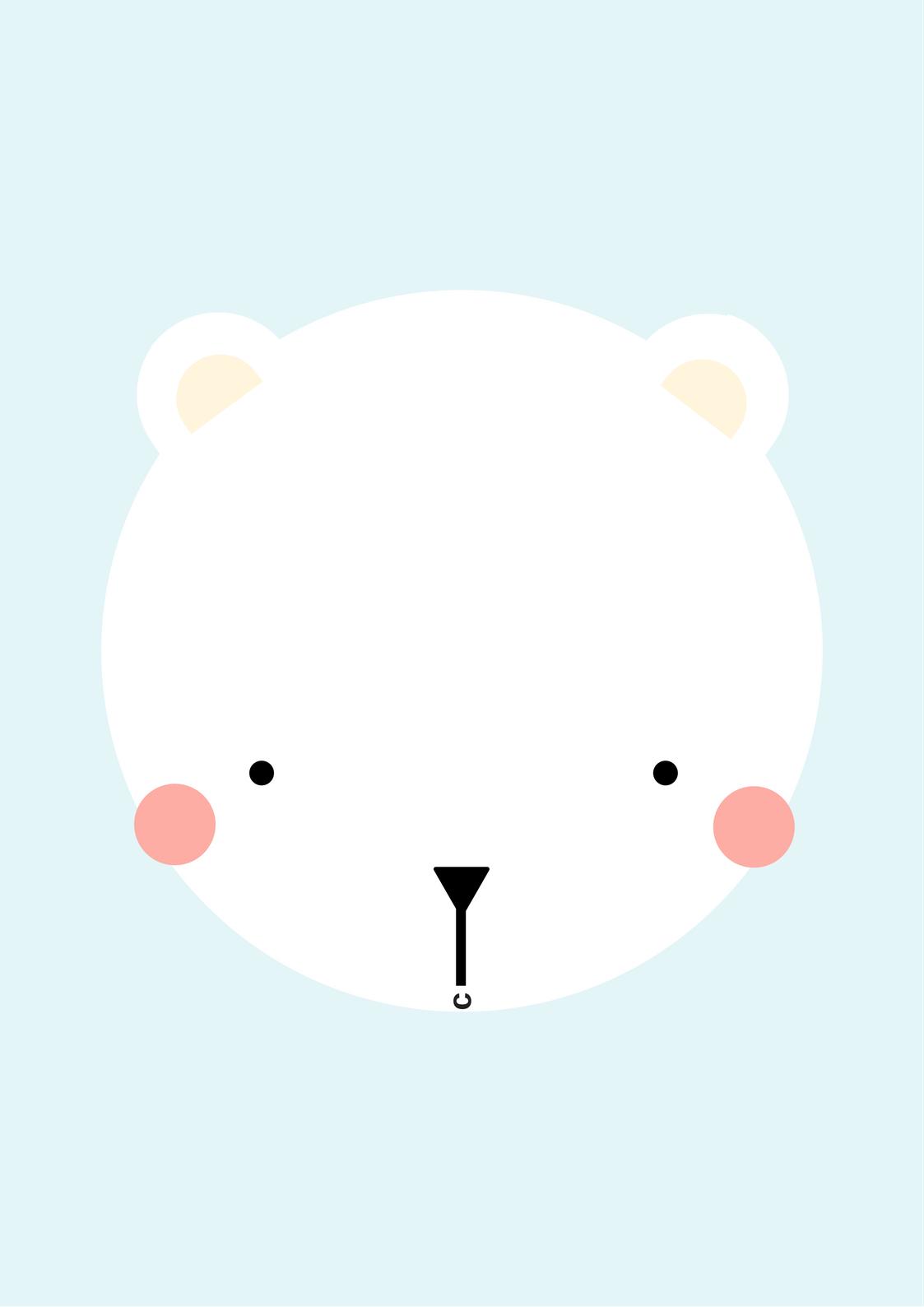 Drawn polar  bear printable Bear polar bear printable bear