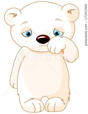 Drawn polar  bear sad #3