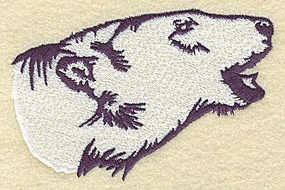 Drawn polar  bear side view 4 53w Stash head bear