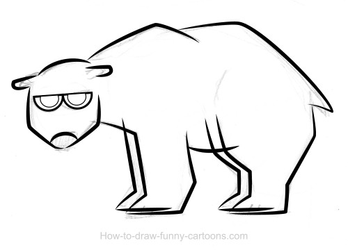 Drawn polar  bear simple Polar drawings (Sketching bear +